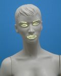 3722 testa capelli scolpiti donna manichino in plastica luminoso
