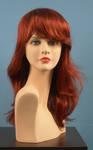 4562 parrucca capelli lunghi mossi rossi