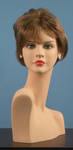 4595 parrucca donna effetto naturale castana