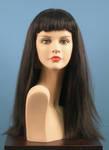 4606 parrucca donna mora capelli lunghi abbigliamento