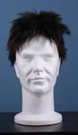 4632 parrucca uomo scura manichini vetrine negozi