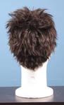 4634 parrucca uomo scura sintetica lato posteriore