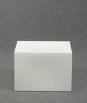 4782 cubo rettangolare bianco latte plastica esposizione