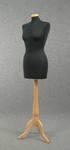 4848 manichino sartoriale donna base trepiedi legno