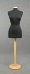 4869 manichino donna sartoria cucito confezione abiti base tappo legno
