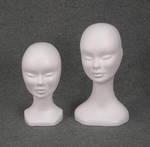 4908 teste parrucche donna belfagor polistirolo esposizione supporto