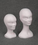 4909 teste portaparrucche donna dimensioni diverse polistirolo bianco