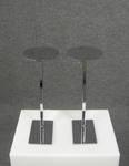 4983 portacappelli circolari portaoggetti espositori vetrine negozi fiere musei base regolabile