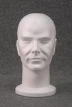 5114 testa uomo polistirolo bianca grezza