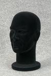 5120 testina portaparrucche cappelli uomo polistirolo floccato colore nero