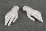 5130 mani bianche laccate lucide applicabili manichini