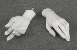 5131 mani applicabili manichini donna lucide bianche