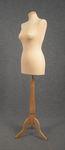 5463 manichino sartoriale cucito color ecru base trepiedi legno chiaro