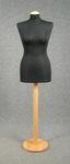 5469 manichino sartoriale donna tessuto nero spillabile polistirolo cucito base tonda liscia
