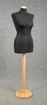 5470 busto sartoriale donna spillabile tessuto nero cucito confezione abiti base tonda legno chiaro