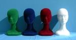 54 teste polistirolo floccate espositori per cappelli