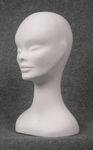 5570 testa belfagor donna vellutata floccata bianca