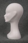 5571 testina donna belfagor vellutata colore bianco profilo