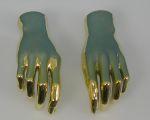 571 coppia mani dorate manichino donna
