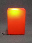 6056 lampada espositore cubo parallepipedo arancione luminoso