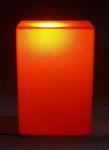 6057 cubo espositore luminoso arancione vetrine arredamento