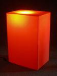 6058 cubo luminoso arancione arredamento locali vetrine negozi