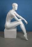 677 laccato lucido manichino donna seduto