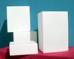 67 cubi espositori precolorati per vetrine
