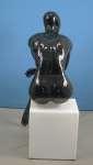 751 manichino donna stilizzato laccato lucido seduto