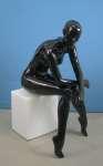 752 stilizzato manichino donna seduto laccato lucido