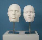 836 cromato base metallo display per testa capelli scolpiti uomo donna