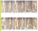 930 manichini stilizzati donna uomo braccia legno testa uovo