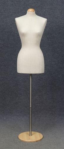 001 BUSTO BASE DONNA LINO - Busto usato da donna rivestito lino completo di base