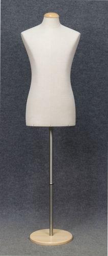001 BUSTO BASE UOMO LINO - Busto uomo rivestito lino completo di base