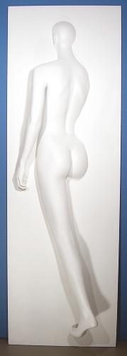 001 FANTASMA B - Pannello B raffigurante un corpo femminile inserito in un muro
