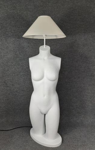 001 LAMPADA CORPO DONNA BUSTO 14BST - Lampada busto a forma di donna con paralume