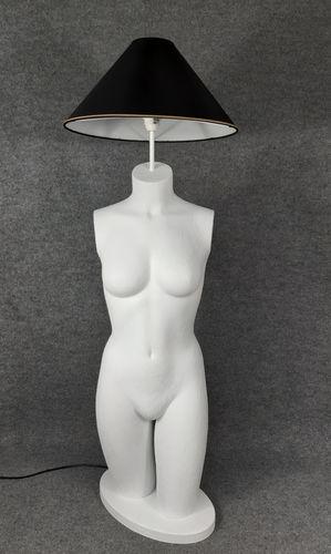 001 LAMPADA CORPO DONNA BUSTO 17BST - Lampada busto a forma di donna con paralume