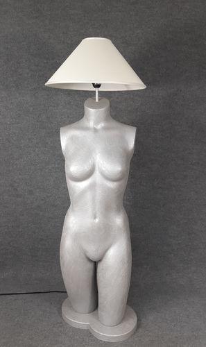 001 LAMPADA CORPO DONNA BUSTO 22BST - Lampada busto a forma di donna con paralume