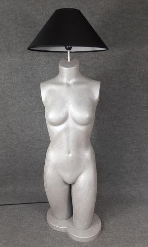001 LAMPADA CORPO DONNA BUSTO 23BST - Lampada busto a forma di donna con paralume