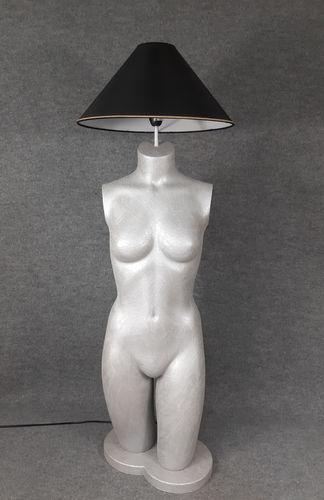 001 LAMPADA CORPO DONNA BUSTO 25BST - Lampada busto a forma di donna con paralume