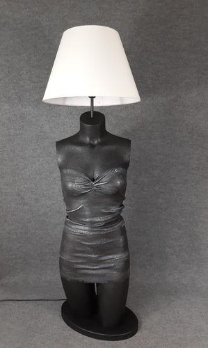 001 LAMPADA CORPO DONNA BUSTO 27BST - Lampada busto a forma di donna con paralume