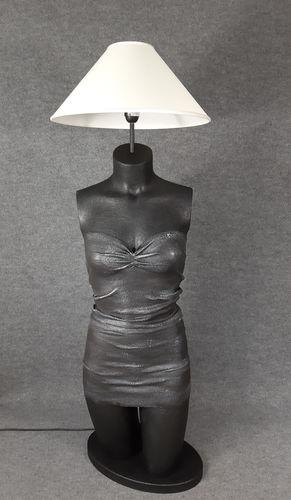 001 LAMPADA CORPO DONNA BUSTO 29BST - Lampada busto a forma di donna con paralume
