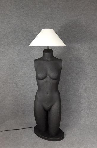 001 LAMPADA CORPO DONNA BUSTO 2BST - Lampada busto a forma di donna con paralume