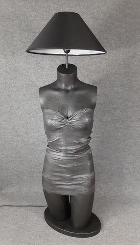 001 LAMPADA CORPO DONNA BUSTO 30BST - Lampada busto a forma di donna con paralume