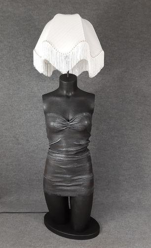 001 LAMPADA CORPO DONNA BUSTO 31BST - Lampada busto a forma di donna con paralume