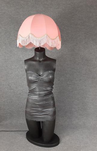 001 LAMPADA CORPO DONNA BUSTO 33BST - Lampada busto a forma di donna con paralume
