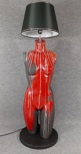 001 LAMPADA CORPO DONNA BUSTO 36BST - Lampada busto a forma di donna con paralume
