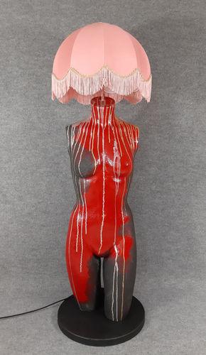001 LAMPADA CORPO DONNA BUSTO 37BST - Lampada busto a forma di donna con paralume