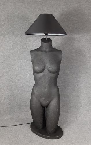 001 LAMPADA CORPO DONNA BUSTO 3BST - Lampada busto a forma di donna con paralume