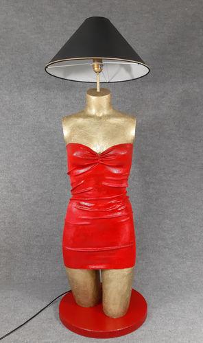 001 LAMPADA CORPO DONNA BUSTO 49BST - Lampada busto a forma di donna con paralume